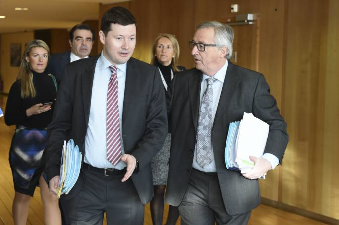 Jean Claude Juncker (right) and Martin Selmayr, now appointed EU secretary-general