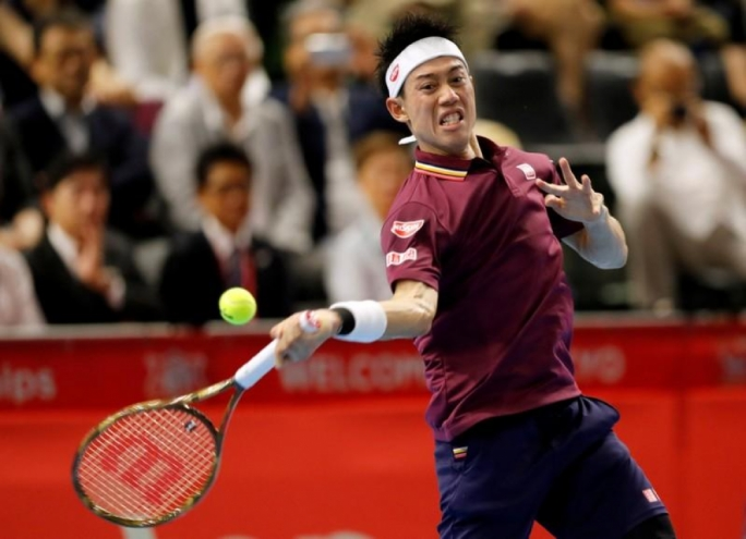 Nishikori through to Japan Open final against Medvedev
