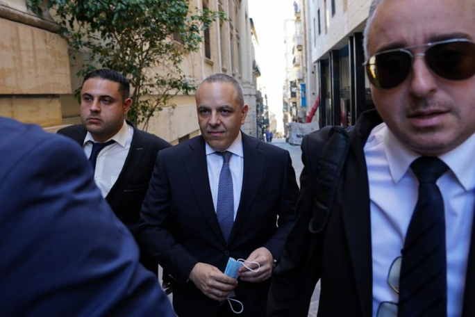 Keith Schembri on his way to court during the compilation of evidence against Yorgen Fenech