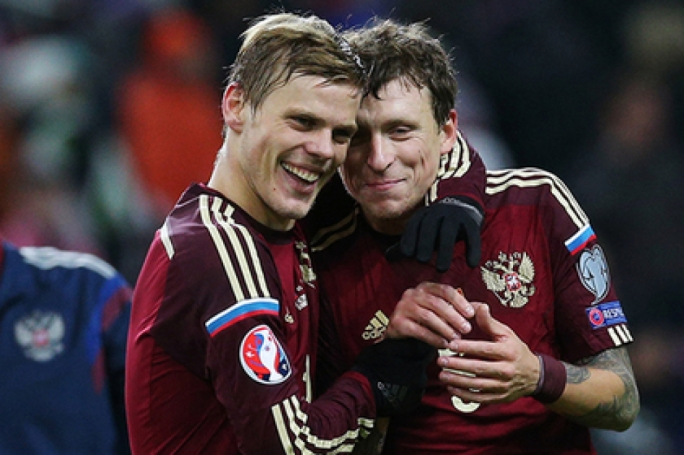 Aleksandr Kokorin (left) and Pavel Mamaev (right)