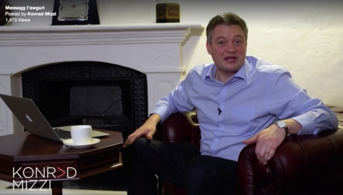 [WATCH] Konrad Mizzi hails energy projects in Christmas video by the fireplace