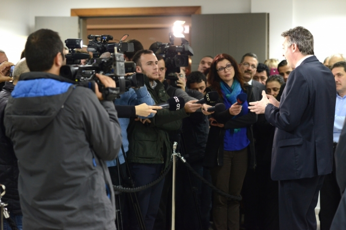 In the media spotlight: Konrad Mizzi. Photo: Ray Attard