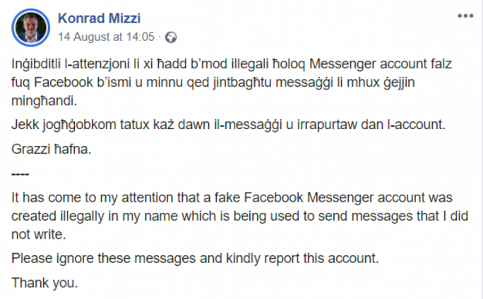 Police investigating fake profiles posing as government