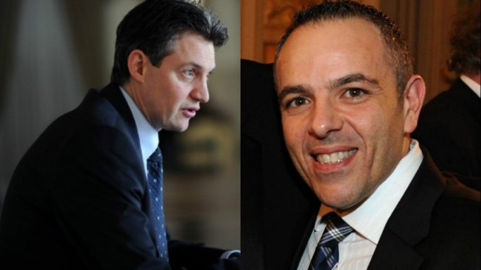 Energy Minister Konrad Mizzi [left] and OPM chief of staff Keith Schembri