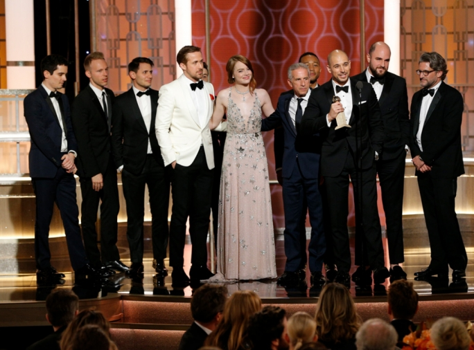 La La Land won seven awards at the Golden Globes