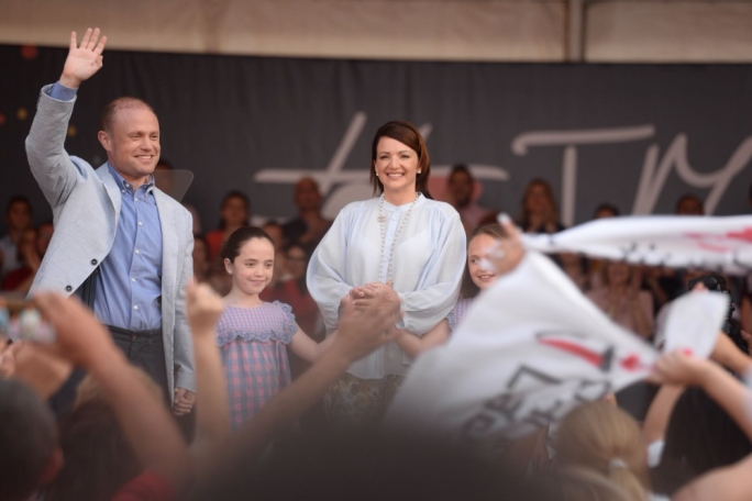[WATCH] Tributes for Joseph Muscat at his leadership anniversary rally in Paola