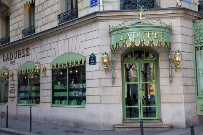 The Ladurée store on Rue Royale