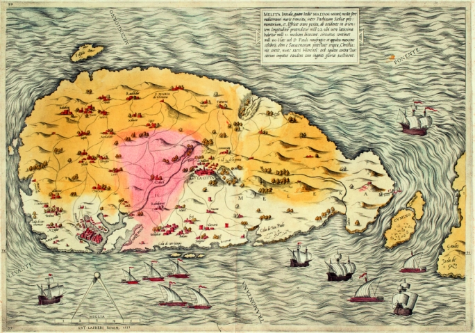 The Lafreri map of Malta of 1551, one of the earliest and most accurate maps of Malta