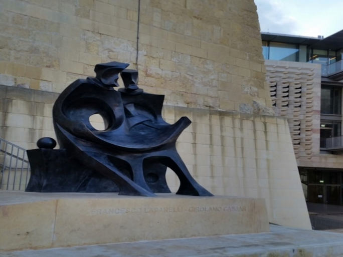 Laparelli-Cassar newly placed monument near Parliament – will it gain lost ground in promoting deserved recognition of the Valletta builders?