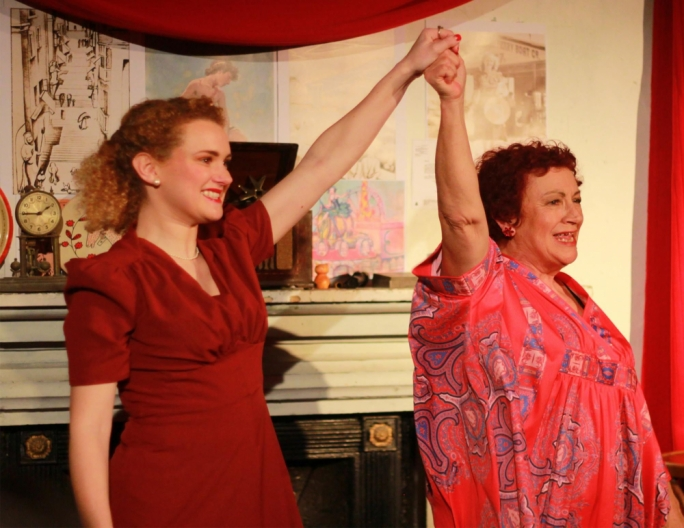 Larissa Bonaci (left) and Polly March. Photo by Lance Anthony