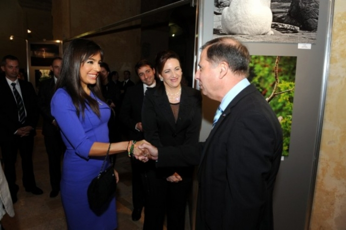 Leyla Aliyeva with Michelle Muscat