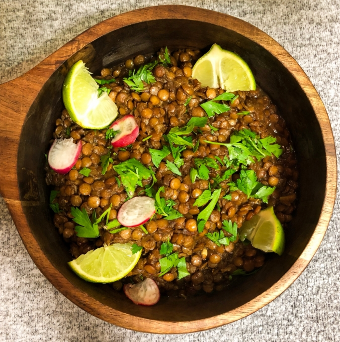 Lime lentils with dates