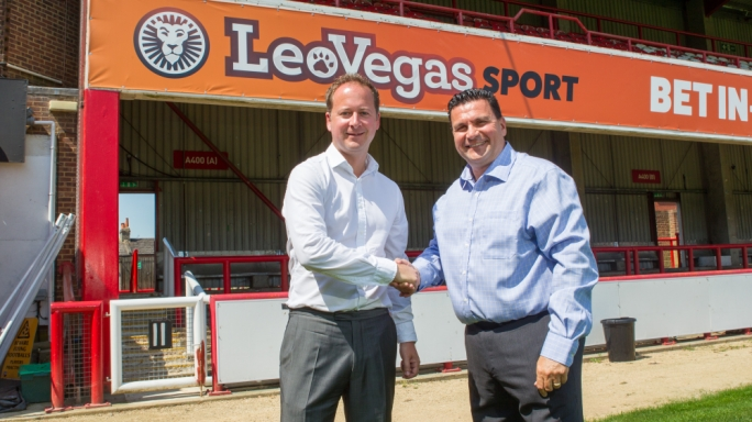 LeoVegas will have its branding on the front of Brentford's home and away shirts for the 2017/18 and 2018/19 seasons