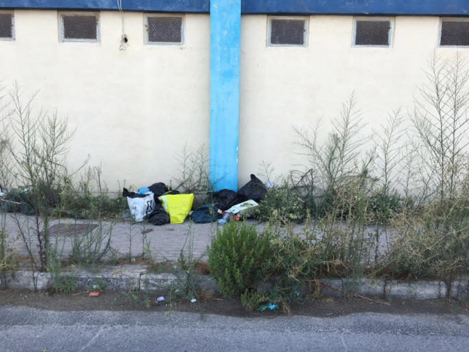 Rubbish left uncollected in Naxxar