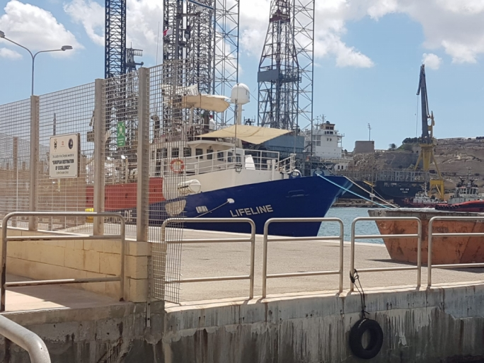 The MV Lifeline remains impounded in Malta as the captain faces ongoing court proceedings over the ship's registration (Photo: Massimo Costa/MediaToday)