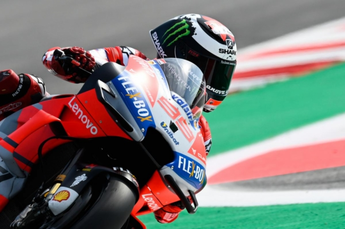 Lorenzo ominous for pole as Marquez crashes at Misano