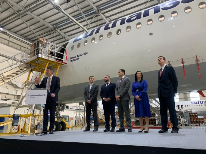 Lufthansa Technik's Malta branch is servicing the company's most modern aircraft, the Airbus A350