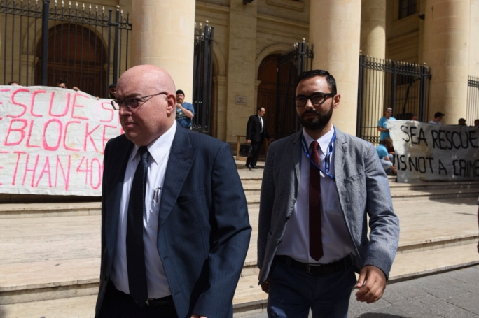 Magistrate Joe Mifsud (left) will be hearing the Lifeline captain case (Photo: James Bianchi/MediaToday)