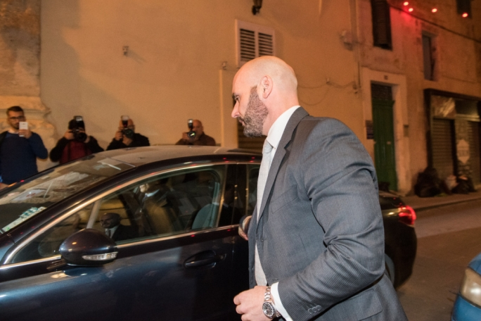 Magistrate Neville Camilleri seen here arriving to court on 6 December 2017 when the three men charged with Daphne Caruana Galizia's murder were brought before him. Camilleri was duty magistrate on the day.