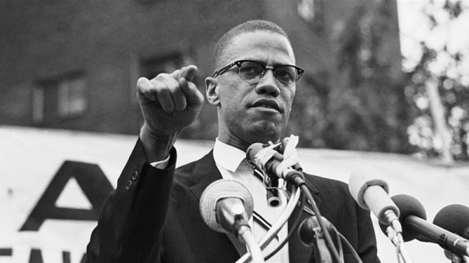 Malcolm X, the prominent black rights activist and one-time Nation of Islam torchbearer. His autobiography is a seminal work on black consciousness