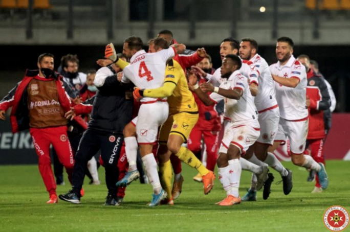 Malta's national football team had a seven-match unbeaten run at the end of 2020 (Photo: MFA/Domenic Aquilina)