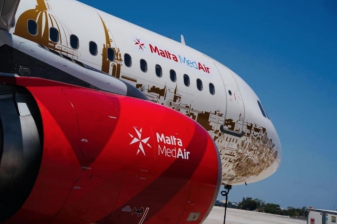 Pilots' union protests against precarious work conditions at Malta Med Air