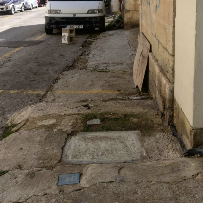 A second photo submitted by BAG showing inadequate pavement infrastructure