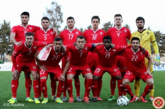 The Malta U-21 team that played against Montenegro in 2016