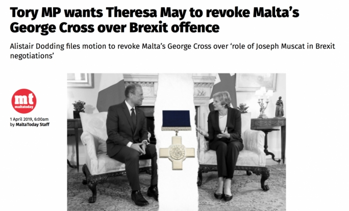 Touch the George Cross and it's a sure way of getting the Maltese cross