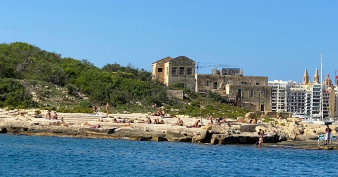 More than 50,000 people went swimming at Manoel Island between July and September