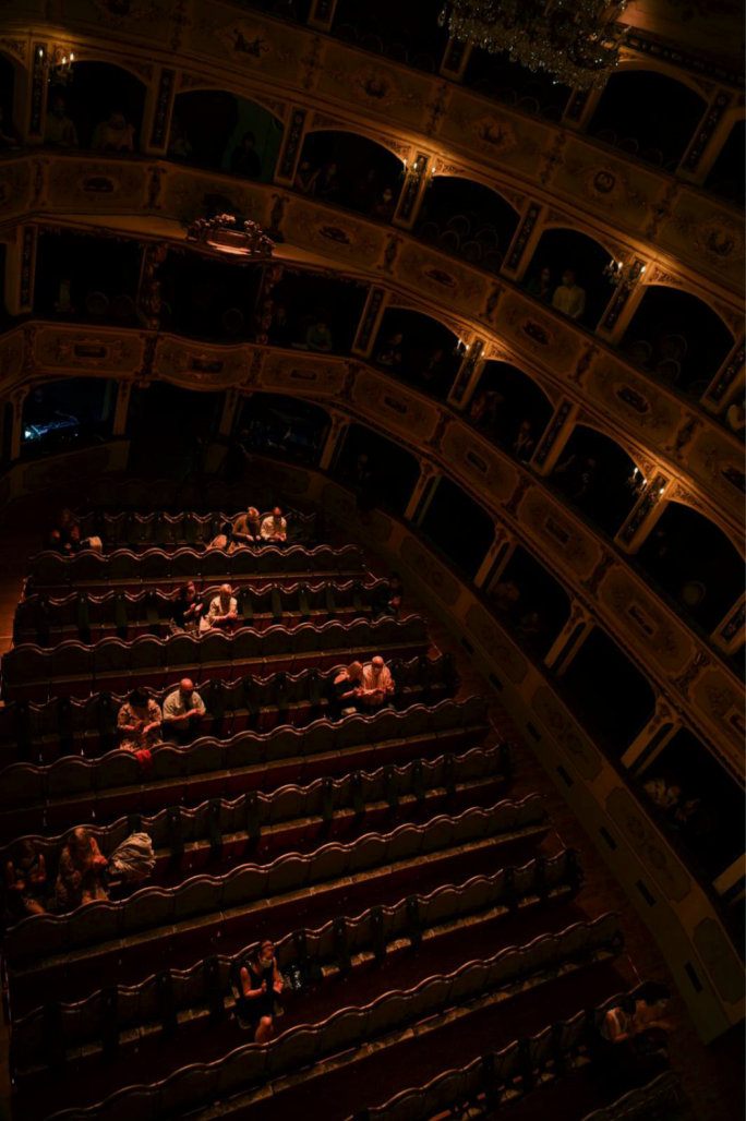 Face-masks and social distancing in the grandeur of Manoel Theatre - in pictures