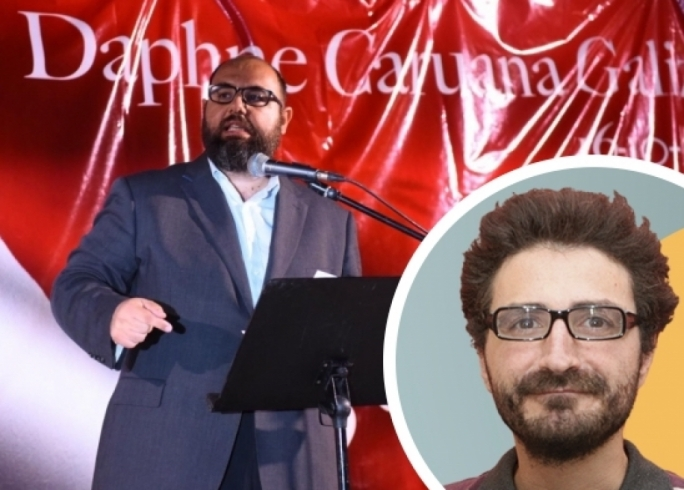 Blogger Manuel Delia alleged that MaltaToday journalist Raphael Vassallo (inset) is part of the mafia conspiracy that killed Daphne Caruana Galizia