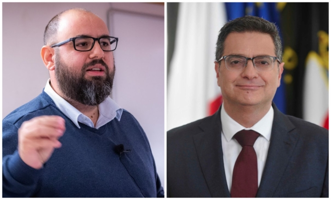 Repubblika activist Manuel Delia (left) was PN leader Adrian Delia's (right) ghostwriter during his leadership campaign according to court testimony
