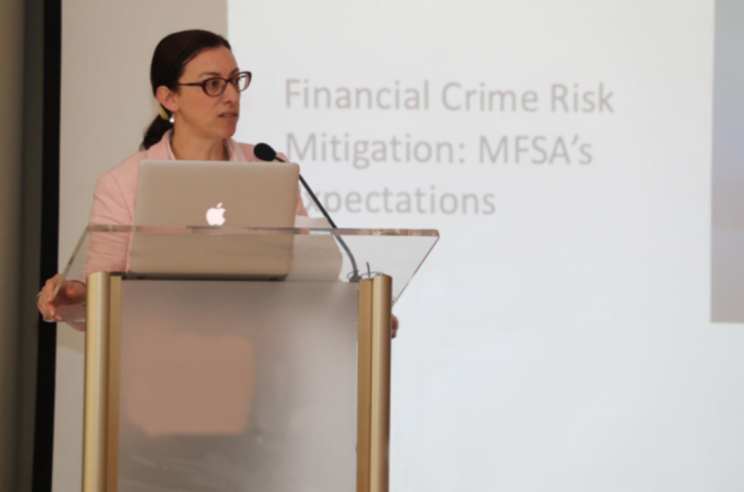 MFSA Chief Officer Supervision, Marianne Scicluna addressing the industry workshop