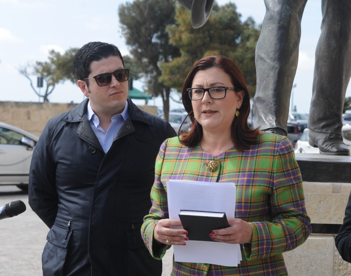 Discredited supergrass Mario Portelli (left) with Marlene Farrugia. Portelli had the privilege of being in attendance during the historic coalition agreement that Simon Busuttil sealed with Farrugia's PD