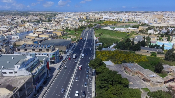 The widening of the Marsa-Hamrun bypass is one of seven projects that will give the country a return of €7 for every €1 spent
