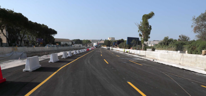 First three new Marsa lanes to be open to traffic next week