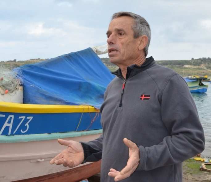 "Marsaxlokk fisherman Martin Caruana, ""the bigger boats [are] carrying 50–70 pieces of nets and working round the clock, thanks to imported cheap labour""- in contrast to small fishers who use 12 nets"