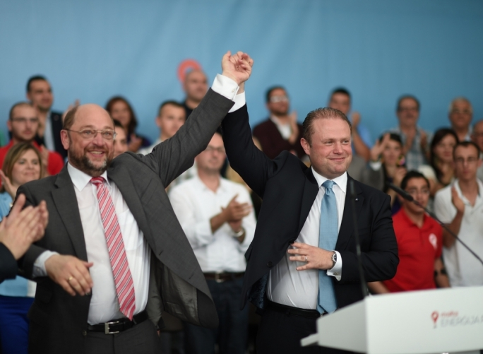 Muscat plays the Schulz card for MEP elections