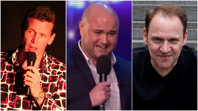 The latest show includes three internationally-acclaimed comedians, namely Matt Welcome, Danny Posthill and Geoff Whiting (left to right)