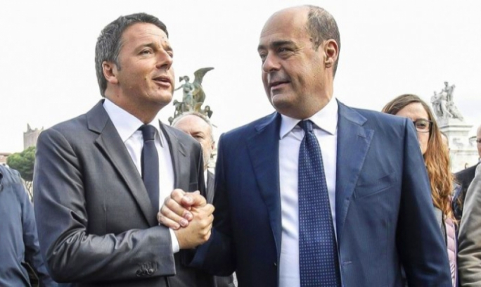 Matteo Renzi and Nicola Zingaretti: the centre-lift risks splitting once again