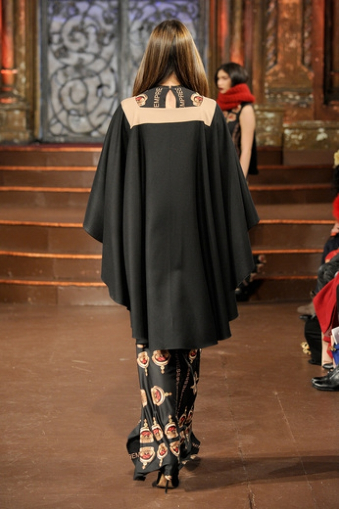 Capes and crown motifs complement the general theme of the collection