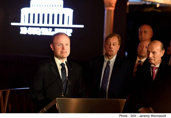 Prime Minister Joseph Muscat inaugurated Is-Suq tal-Belt yesterday