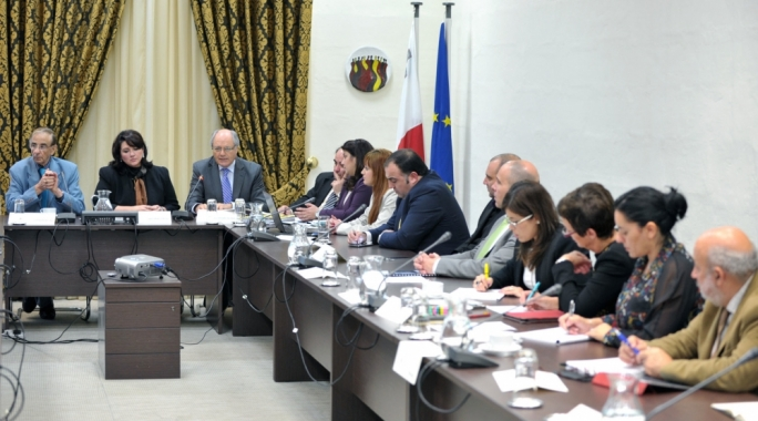 Finance Minister Edward Scicluna meets social partners ahead of Budget 2015