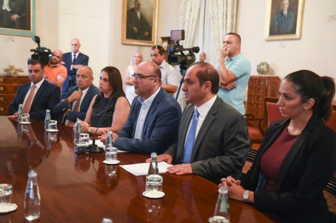 The delegation of the Malta Developers Association at this morning's meeting with the Prime Minister