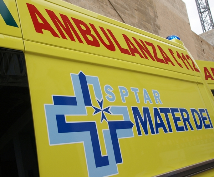 An ambulance conveyed the victim to Mater Dei hospital for treatment