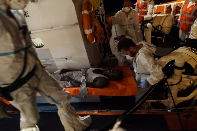 Eleven of the original 53 migrants on board had previously been taken to Italy for medical reasons (Photo: Sea-Watch)