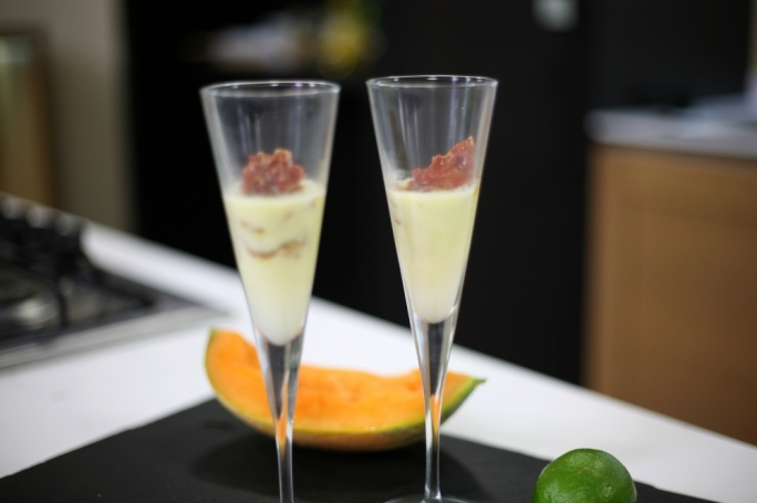 [WATCH] Chilled melon gazpacho with crispy prosciutto