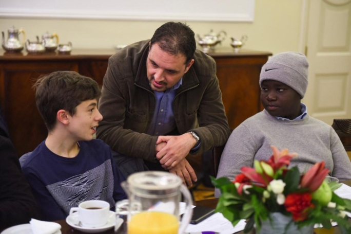 The occasion gave children the chance to meet and discuss matters with MEP candidates