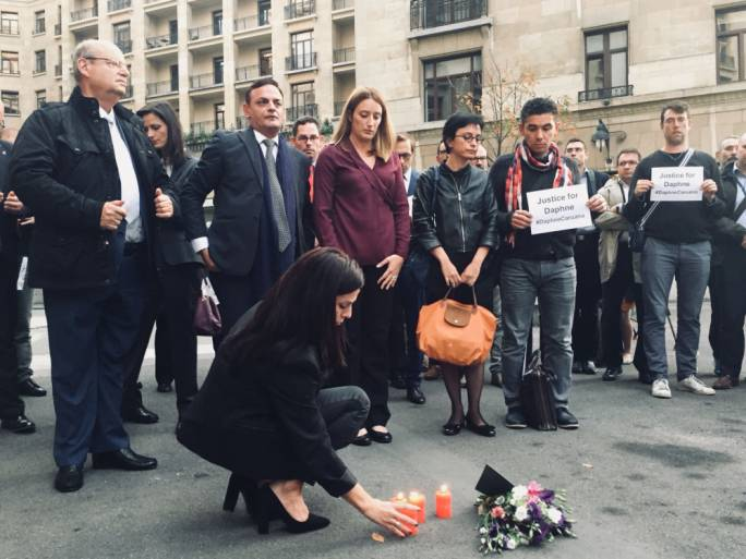 Brussels remembers Daphne Caruana Galizia